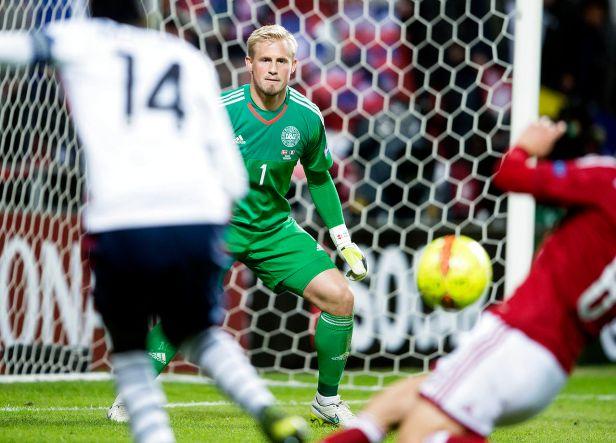 Testkamp mellem Danmark-Frankrig. Kasper Schmeichel
